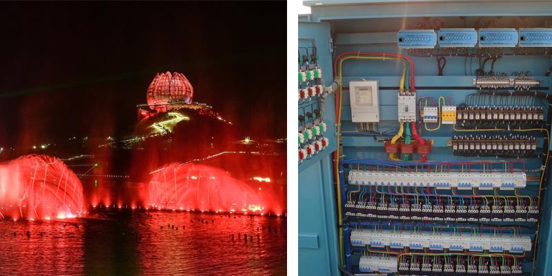 青岛世园会夜景照明效果图和照明配电柜