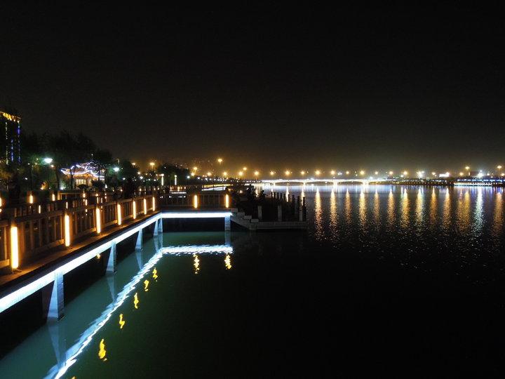 汾河公园夜景照明效果图