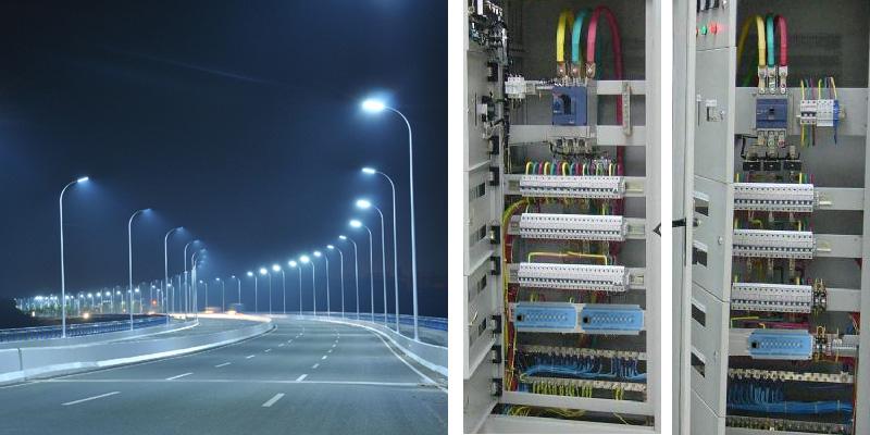 北京顺义区路灯照明效果图和照明配电柜