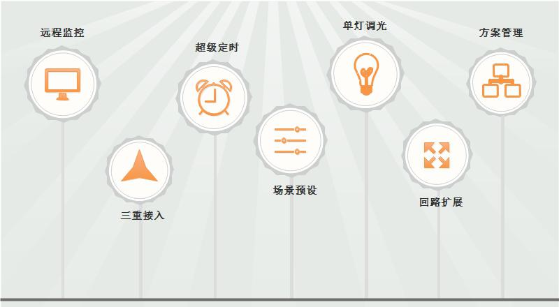 路灯单灯控制系统功能示意图