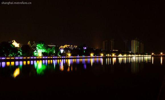 上海奉贤区城市灯光效果图