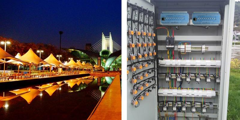 西安高新区夜景亮化效果图和照明配电柜